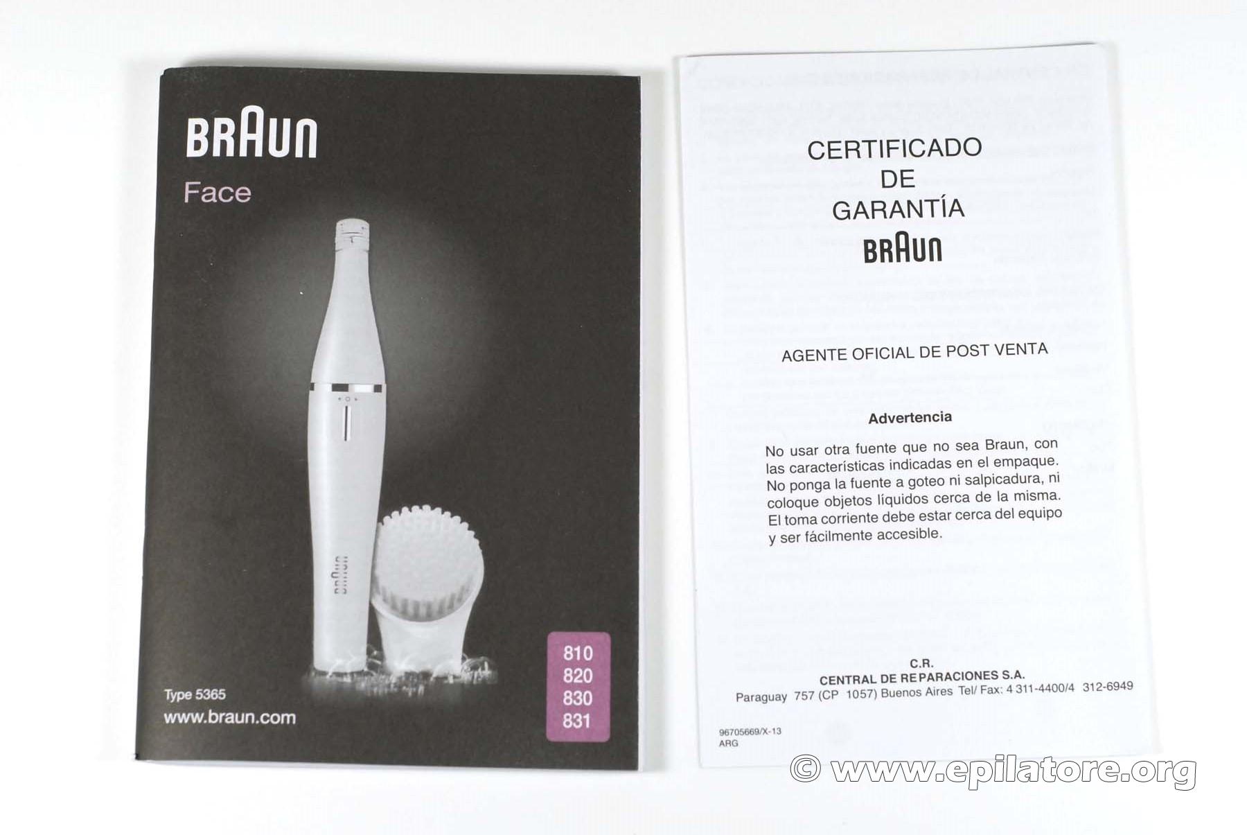 Epilatore per viso Braun SE 830 831